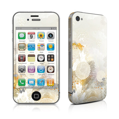 iPhone 4 Skin - White Velvet