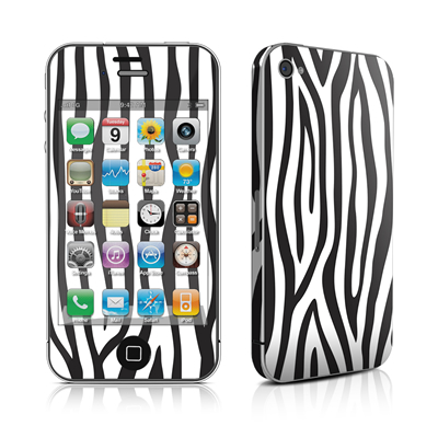 iPhone 4 Skin - Zebra Stripes