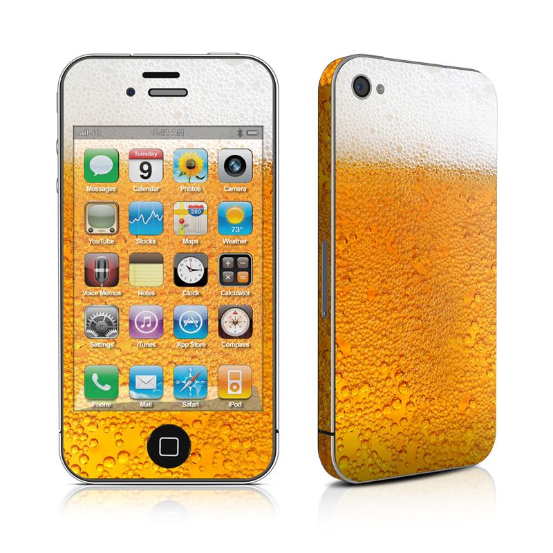 IPhone 4 Skin - Beer Bubbles
