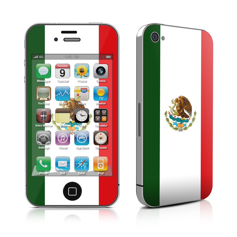 Case Design custom gel phone cases : iPhone 4 Skin - Mexican Flag by Flags : DecalGirl