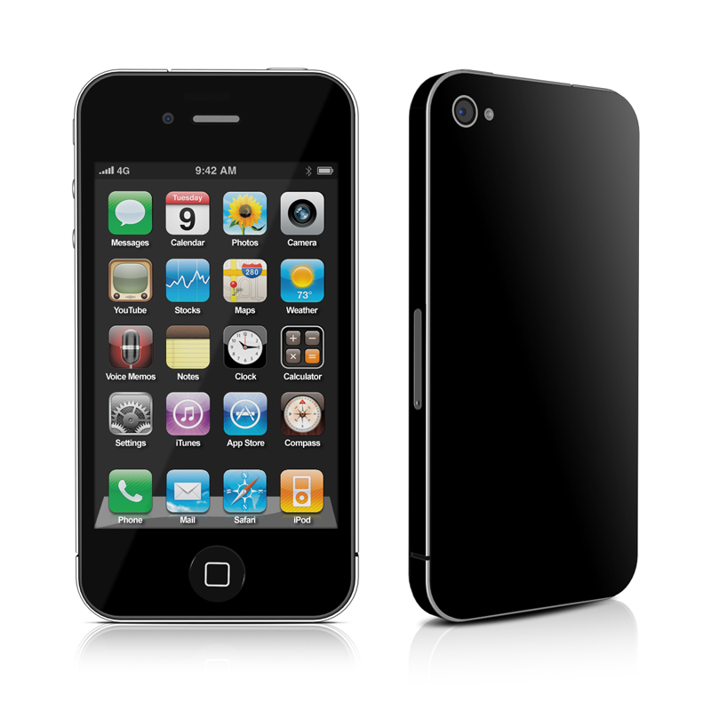 iphone 4 black iphone 4 skin solid state black by solid colors decalgirl 10841