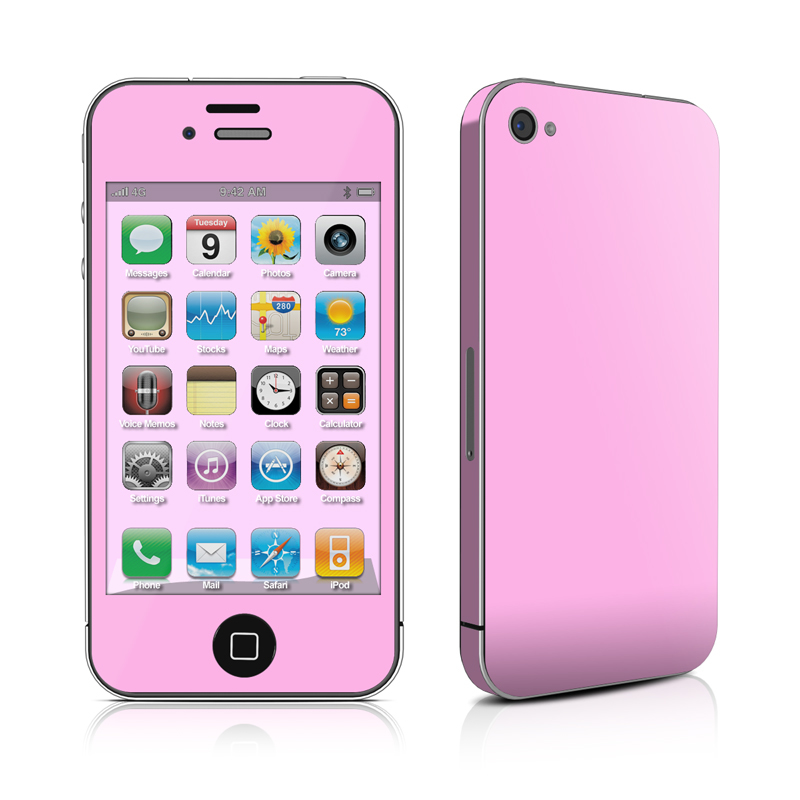 iPhone 4 Skin - Solid State Pink by Solid Colors | DecalGirl