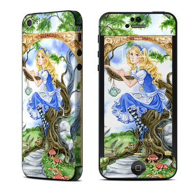 Apple iPhone 5 Skin - Alice's Tea Time