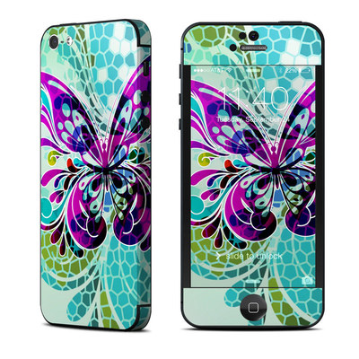 Apple iPhone 5 Skin - Butterfly Glass