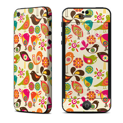 Apple iPhone 5 Skin - Bird Flowers