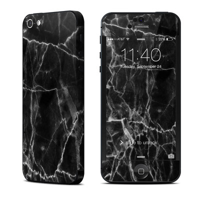Apple iPhone 5 Skin - Black Marble