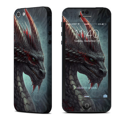 Apple iPhone 5 Skin - Black Dragon