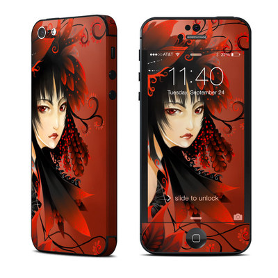 Apple iPhone 5 Skin - Black Flower