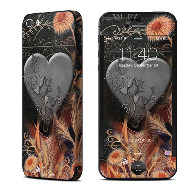 Apple iPhone 5 Skin - Black Lace Flower