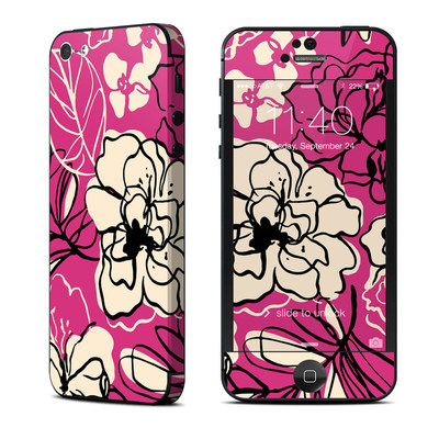 Apple iPhone 5 Skin - Black Lily
