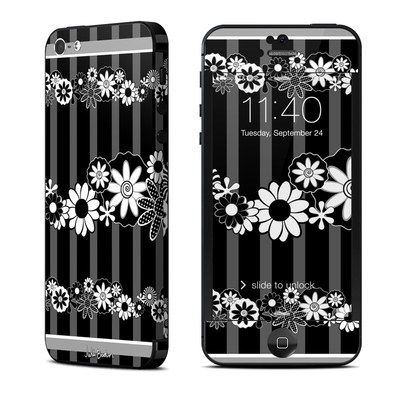 Apple iPhone 5 Skin - Black Retro