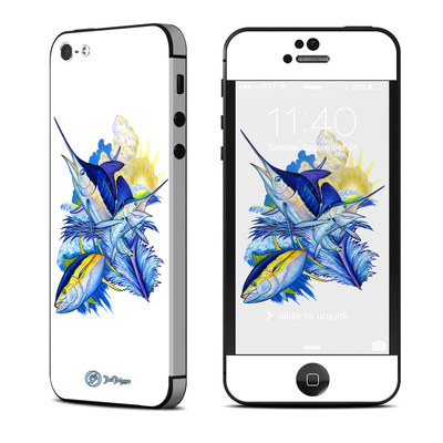 Apple iPhone 5 Skin - Blue White and Yellow