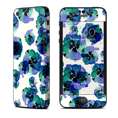 Apple iPhone 5 Skin - Blue Eye Flowers