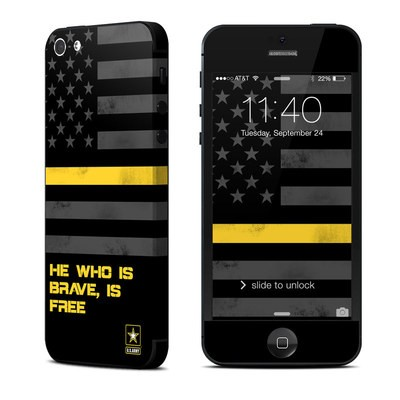 Apple iPhone 5 Skin - Brave is Free