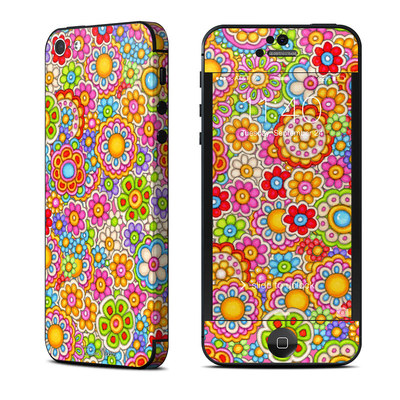 Apple iPhone 5 Skin - Bright Ditzy