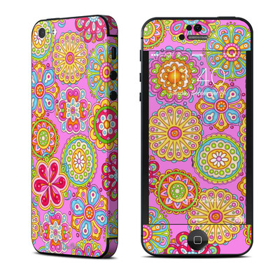 Apple iPhone 5 Skin - Bright Flowers