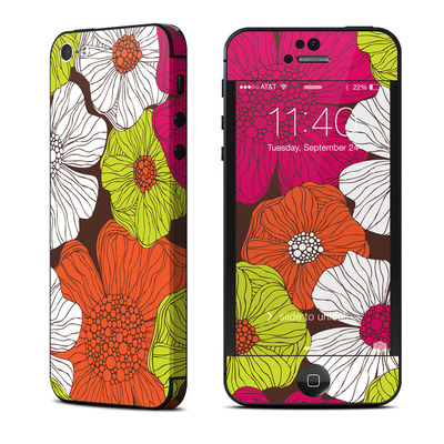Apple iPhone 5 Skin - Brown Flowers