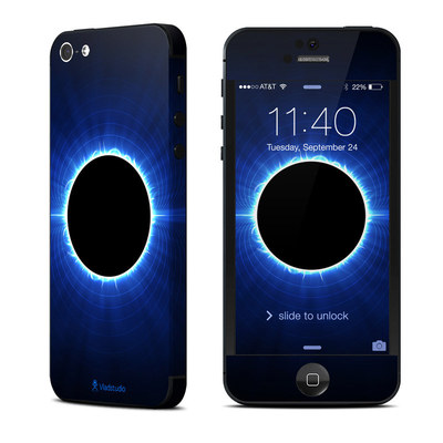 Apple iPhone 5 Skin - Blue Star Eclipse