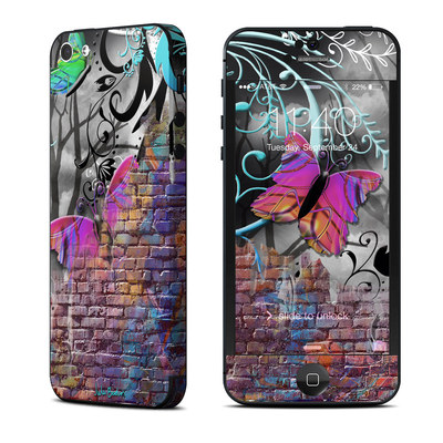 Apple iPhone 5 Skin - Butterfly Wall
