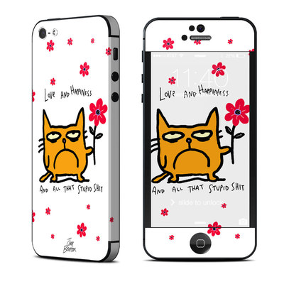 Apple iPhone 5 Skin - Catwad Happy
