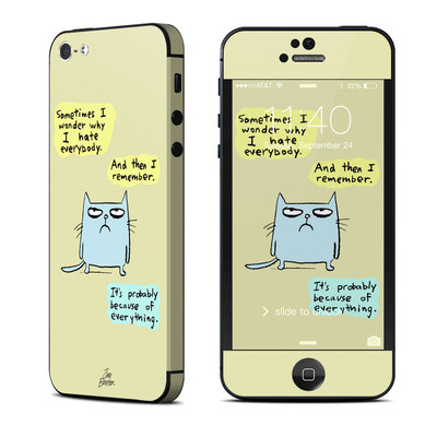 Apple iPhone 5 Skin - Catwad Hate