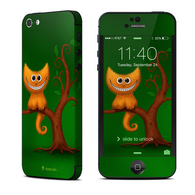 Apple iPhone 5 Skin - Cheshire Kitten