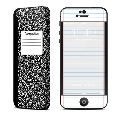 Apple iPhone 5 Skin - Composition Notebook