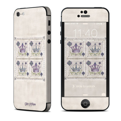 Apple iPhone 5 Skin - Purple Crown