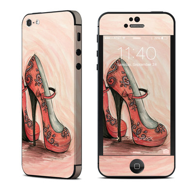Apple iPhone 5 Skin - Coral Shoes