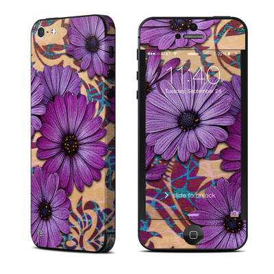Apple iPhone 5 Skin - Daisy Damask