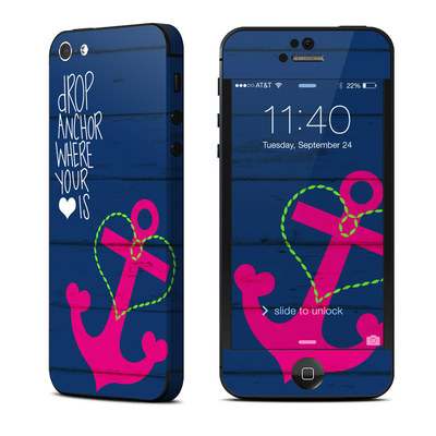 Apple iPhone 5 Skin - Drop Anchor