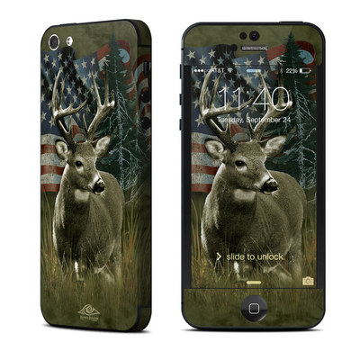 Apple iPhone 5 Skin - Deer Flag