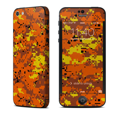 Apple iPhone 5 Skin - Digital Orange Camo