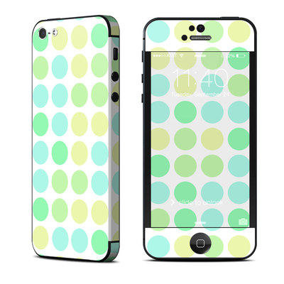 Apple iPhone 5 Skin - Big Dots Mint
