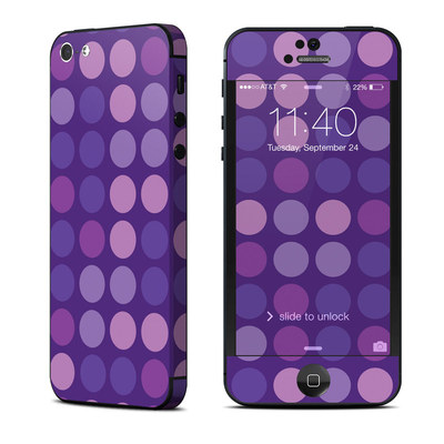 Apple iPhone 5 Skin - Big Dots Purple