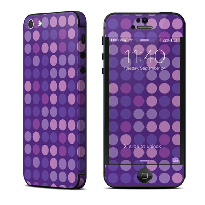 Apple iPhone 5 Skin - Dots Purple