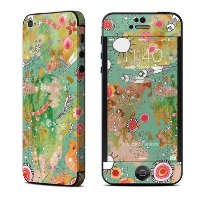 Apple iPhone 5 Skin - Feathers Flowers Showers