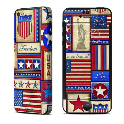 Apple iPhone 5 Skin - Flag Patchwork