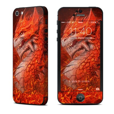 Apple iPhone 5 Skin - Flame Dragon