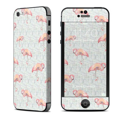 Apple iPhone 5 Skin - Flamingo Mosaic