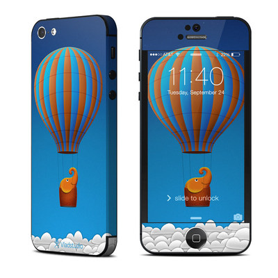 Apple iPhone 5 Skin - Flying Elephant