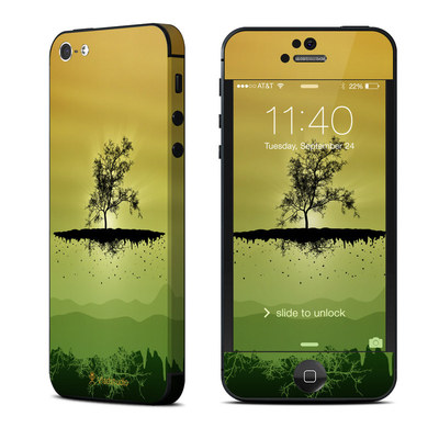 Apple iPhone 5 Skin - Flying Tree Amber