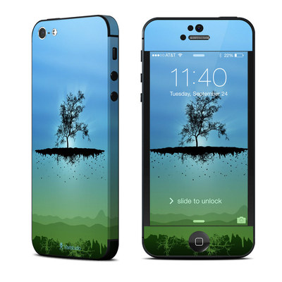 Apple iPhone 5 Skin - Flying Tree Blue