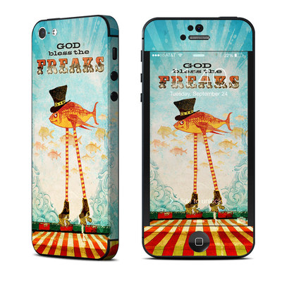 Apple iPhone 5 Skin - God Bless The Freaks