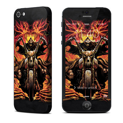 Apple iPhone 5 Skin - Grim Rider