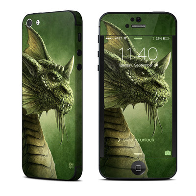 Apple iPhone 5 Skin - Green Dragon