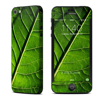 Apple iPhone 5 Skin - Green Leaf