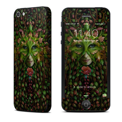 Apple iPhone 5 Skin - Green Woman
