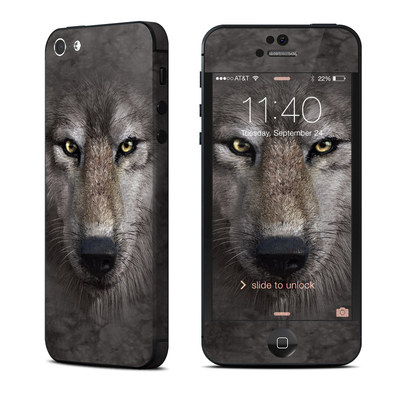 Apple iPhone 5 Skin - Grey Wolf