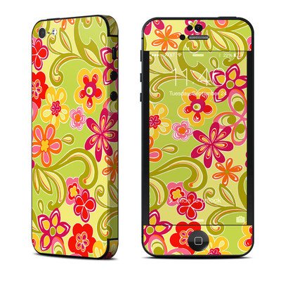 Apple iPhone 5 Skin - Hippie Flowers Hot Pink